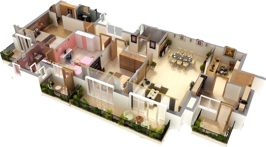 autocad-3d-house-plans-download